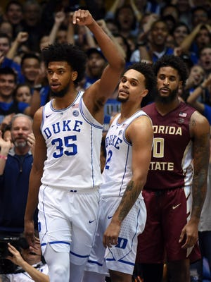 Marvin Bagley III and the Duke Blue Devils are the No. 1 team on Graham Couch's ballot this week, ahead of Michigan State.