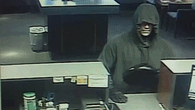 Suspect in bank robbery at Fox Communities Credit Union in Grand Chute.