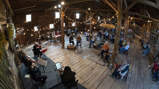"""The Knox-Galesburg Symphony and Galesburg Civic Art Center have joined forces to present """"Musical Outings,"""" a set of socially-distanced performances at Walnut Grove Farm. The first event was held Sept. 19, and two more follow on Sept. 26 and and Oct. 4."""