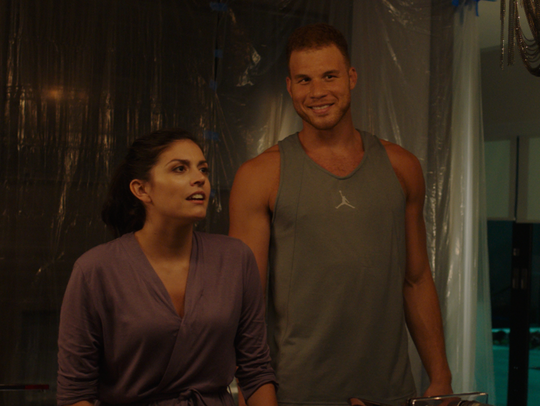 Blake Griffin as Greg, right, and Cecily Strong as