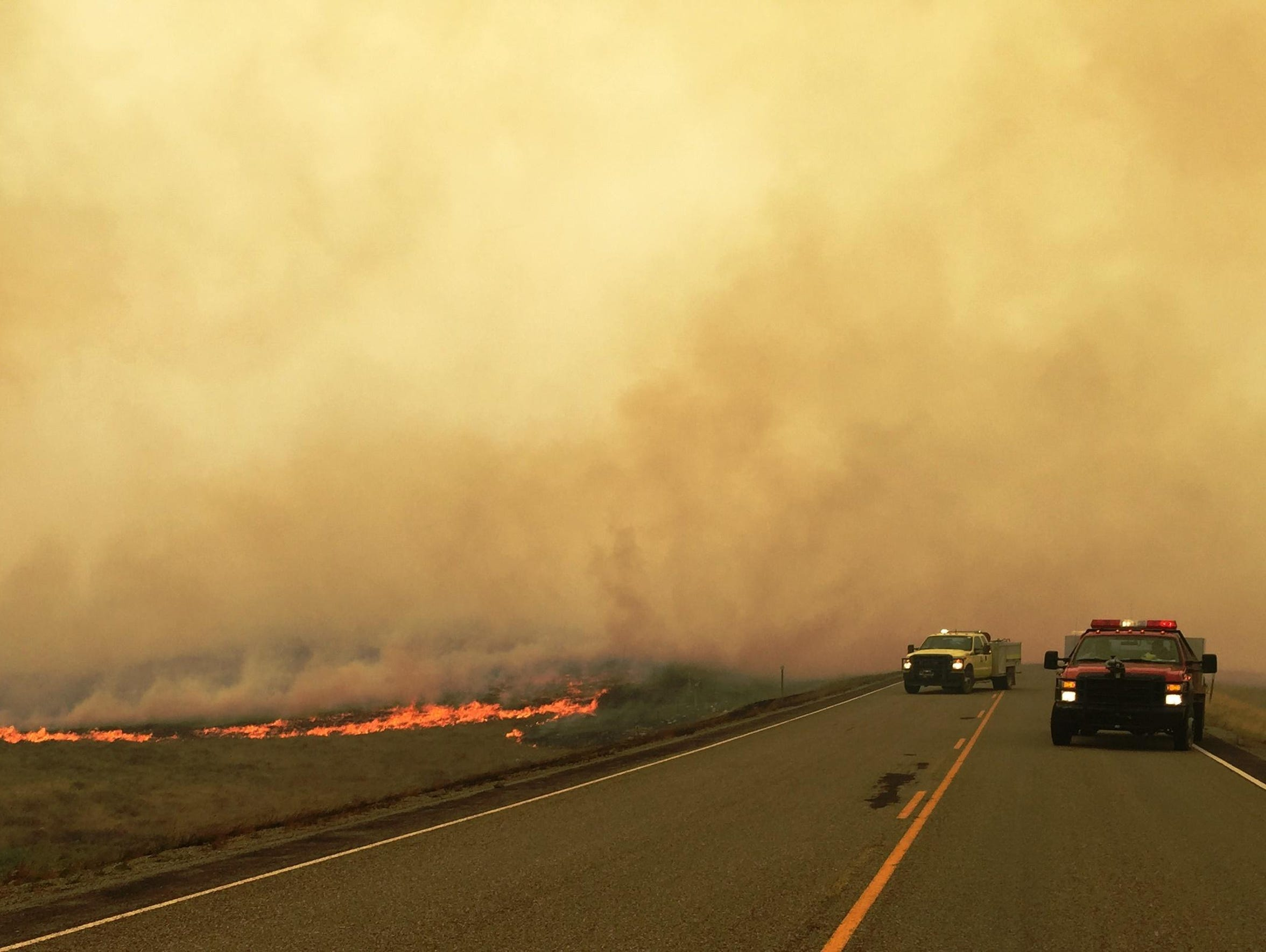 The Spotted Eagle fire reaches Highway 1, the main