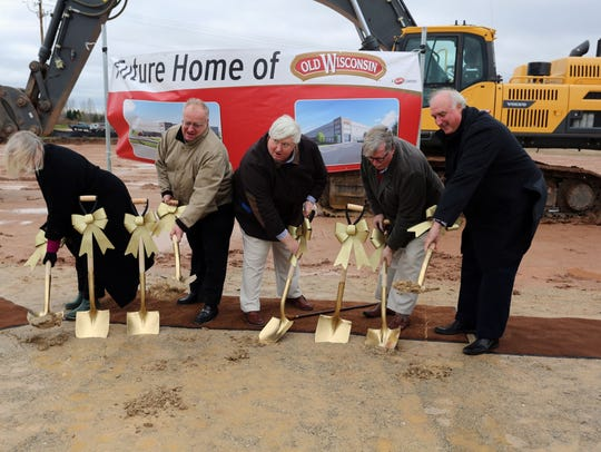 Officials break ground Thursday, Oct. 29, on a new