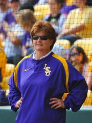 Yvette Girouard was enshrined in the Louisiana Sports Hall of Fame on Saturday.