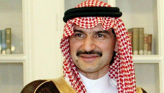 Saudi Arabian Prince Alwaleed bin Talal seen in New Delhi, India, in 2005.