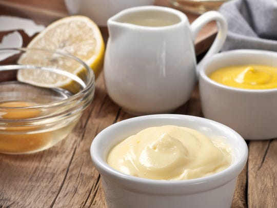 Infuse mayonnaise with brandy, lemon and Dijon mustard