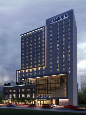 Cambria Nashville will include 255 rooms, a 9,400-square-foot restaurant with a stage for live performances, a rooftop pool and a barista bar.