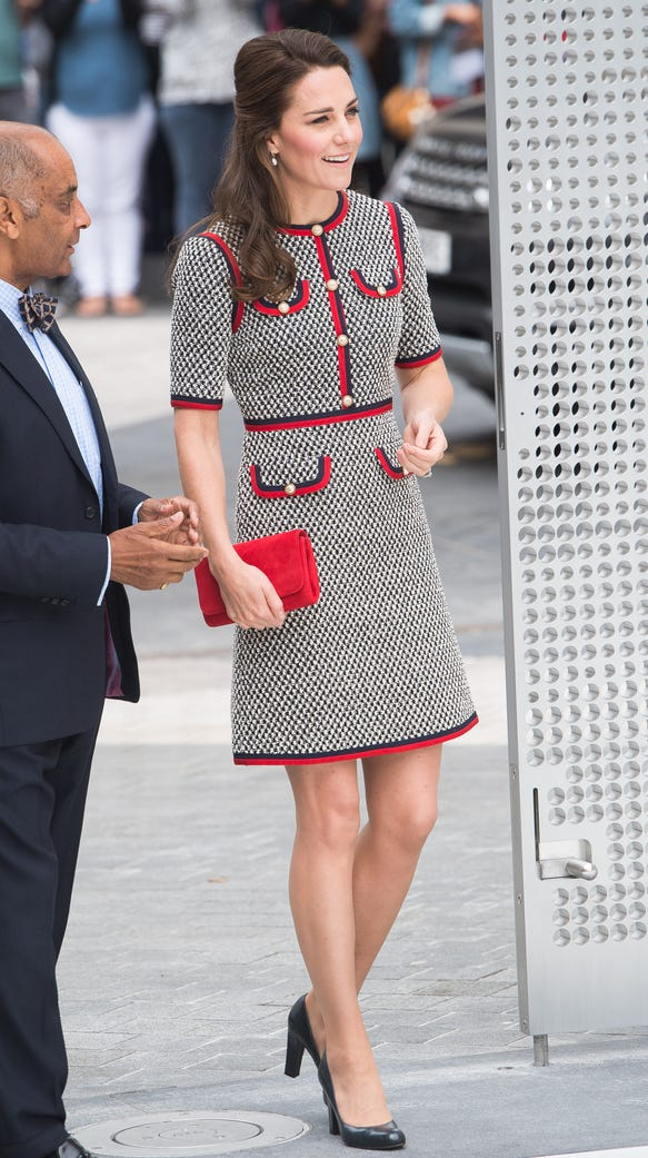 Kate gave Alexander McQueen a rest Thursday, opting