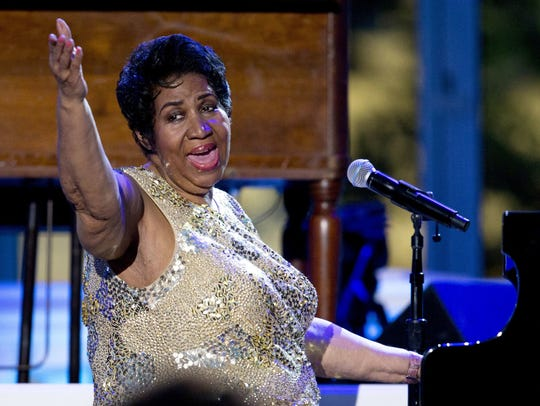 In this April 29, 2016, file photo, Aretha Franklin