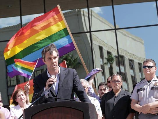 U.S. Rep. Beto O'Rourke, D-Texas, joined El Paso community