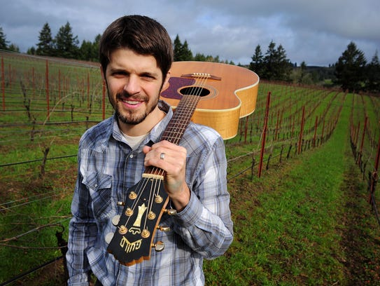Musician Rich Swanger is also the assistant winemaker