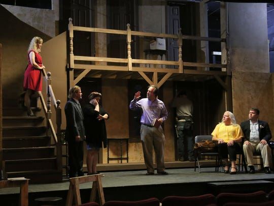 Members of the Mansfield Community Playhouse rehearse