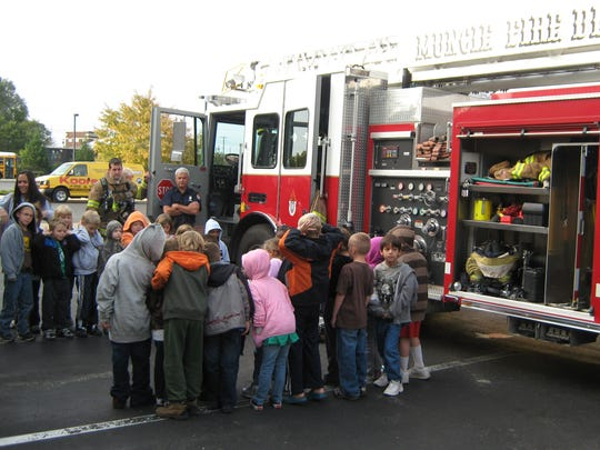 Fire safety day at the Children's Museum