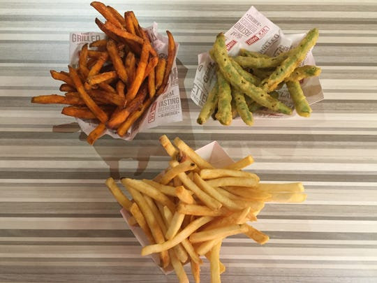 The new Habit Burger opening May 24, 2017, in Circus Circus Reno includes regular fries, sweet potato fries and tempura green beans.