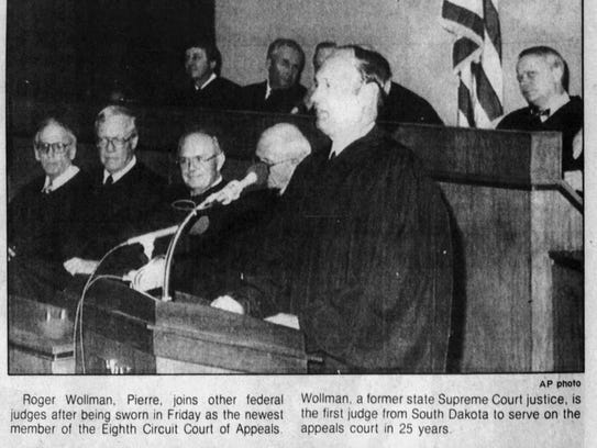 A picture from the Sept. .7, 1985 Argus Leader of Judge