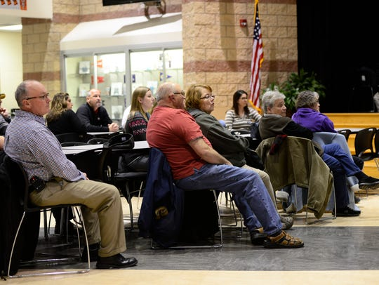 About 25 people attended the first of two public informational