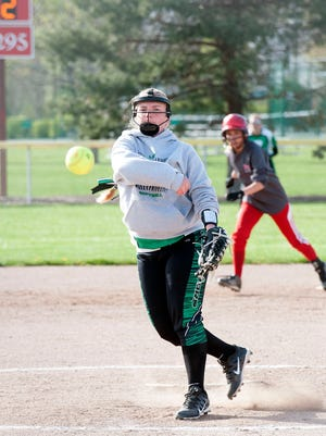 Margaretta's Kennedi Ryan pitches to Port Clinton during Wednesday's game at Port Clinton High School.