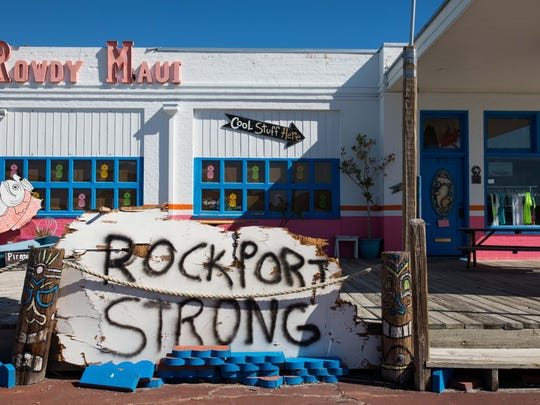 Rowdy Maui in Rockport Texas's Heritage district along