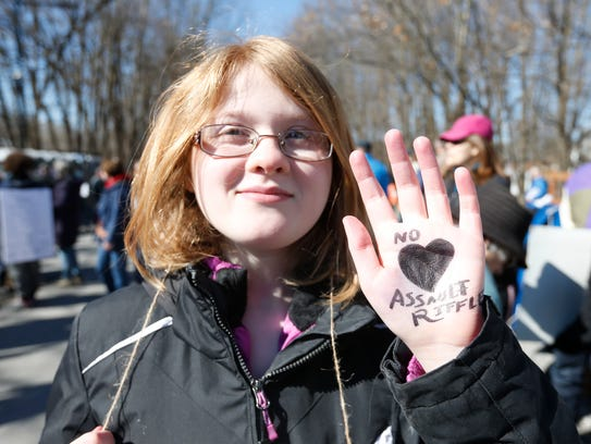 Kaitlyn Canonico, 13 of Kingston before the March For