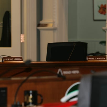 The empty chairs where Tompkins County Legislators