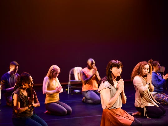 "A scene from Clare Cook Dance Theater's ""Touching Loss,"""