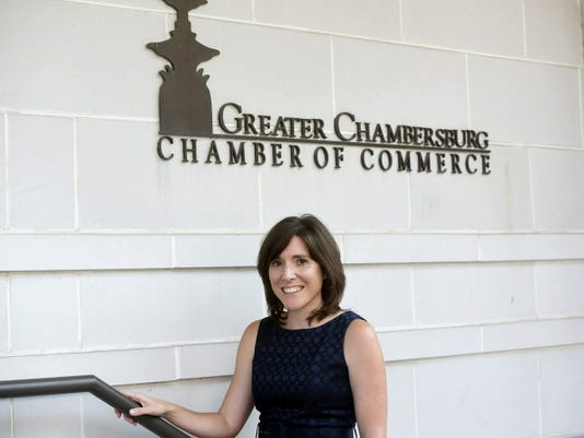Noel Purdy of the Greater Chambersburg Chamber of Commerce, said being a part of the Chambersburg community for most of her life has helped prepare her to take the helm as chamber president.