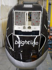 This is the very first Brightline locomotive being