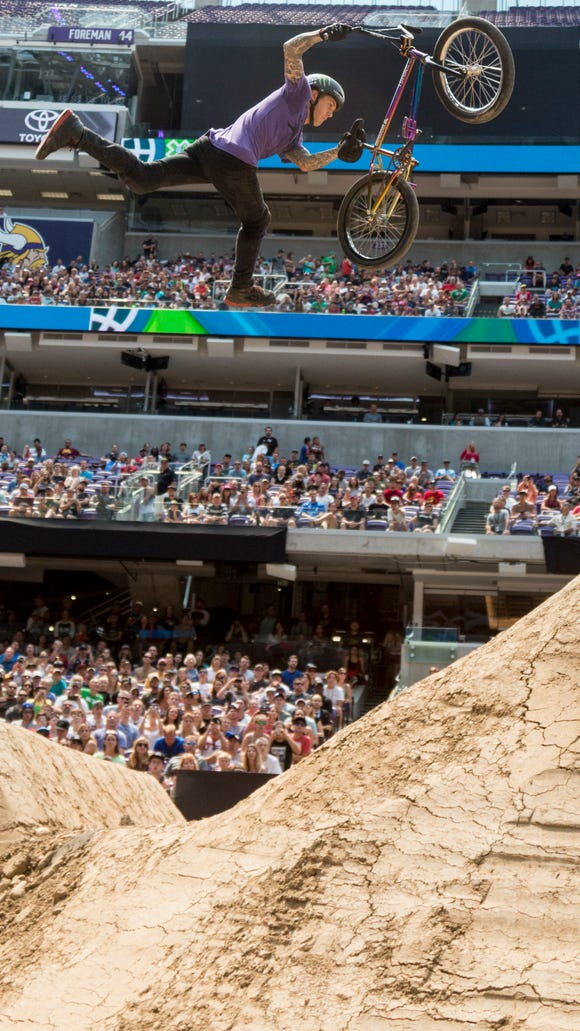 James Foster during the X Games BMX dirt finals.