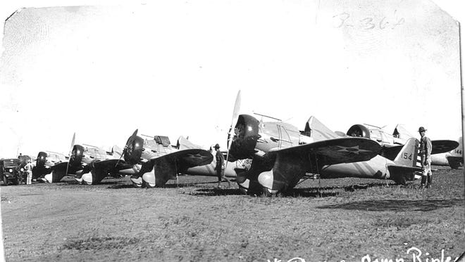 P22 pursuit planes were flown to Camp Ripley from Barksdale Field in Louisiana during the 1940 military maneuvers there and in the surrounding area.