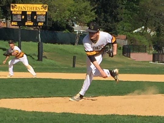 Cedar Grove's Shane Benson throws a pitch against in a Greater Newark preliminary game against Bloomfield Tech.