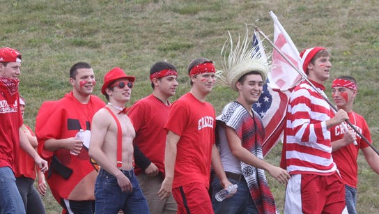 Tappan Zee fans pictured during the Pearl River football