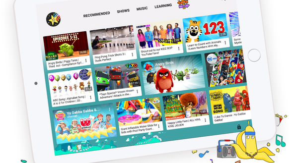 A look at the redesigned YouTube Kids app.