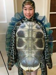 """The sea turtle costume for Ballet Vero Beach's """"Nutcracker"""
