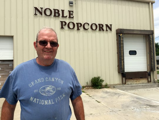 Dan Martin, plant manager of Noble Popcorn, never thought