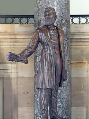 Jason Lee statue in bronze by Gifford MacG. Proctor.