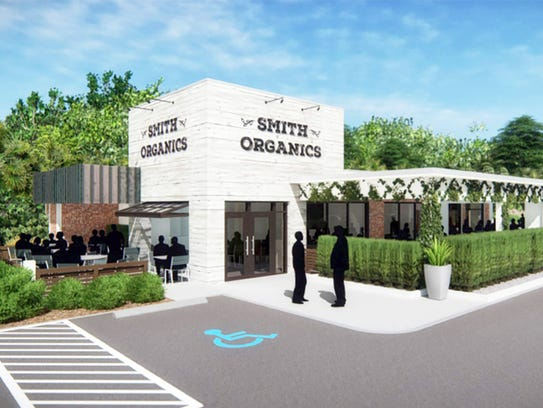 A proposed rendering of a restaurant to be built this
