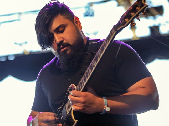 Danny Gonzalez of Kayves performs in the Gobi tent last month at the Coachella Valley Music and Arts Festival.