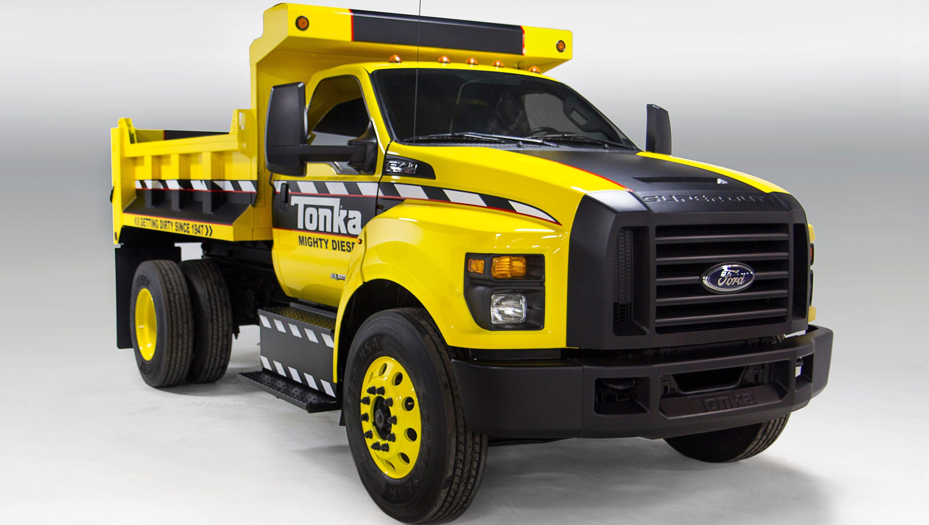Ford Tonka Truck >> Ford-Tonka dump truck a huge 'toy'