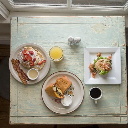 Breakfast favorites at Louise's Kitchen include pancakes