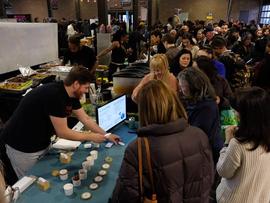 More than 50 exhibitors packed Eastern Market for Detroit's first vegan festival.