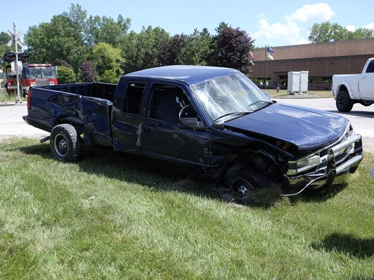 Two people were injured in a crash near Dove and 32nd Street in Port Huron Township Tuesday afternoon.