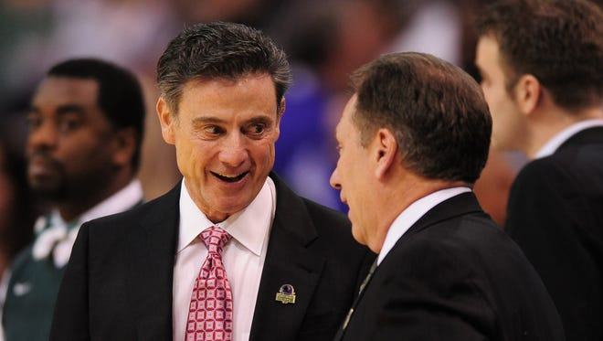 Louisville coach Rick Pitino and MSU coach Tom Izzo have a history of March match-ups.