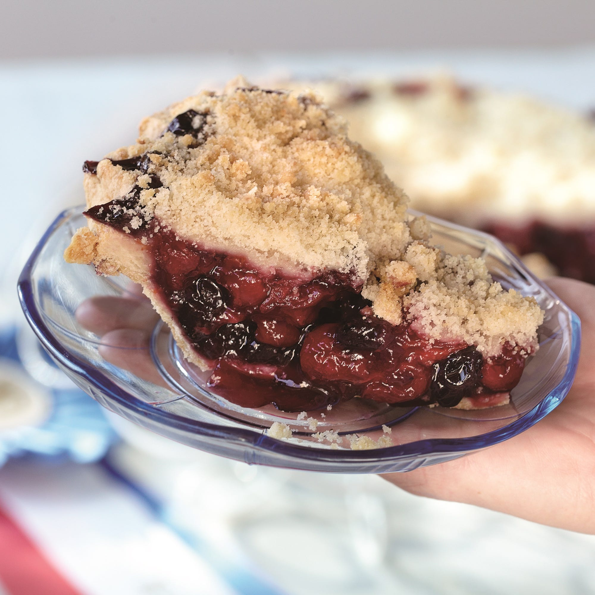 The retro-styled Sweetie-licious Bakery Café in DeWitt, Michigan, serves winners like the Cherry Cherry Berry pie, with layers of fresh Michigan cherries, dry cherries and blueberries.