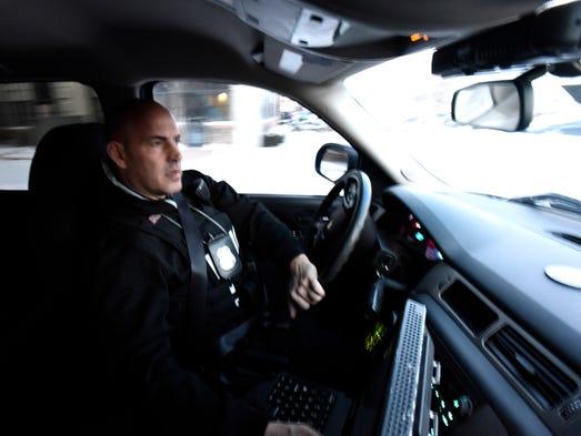 Crime Abatement Team Supervisor Sgt. Cary Glazer patrols
