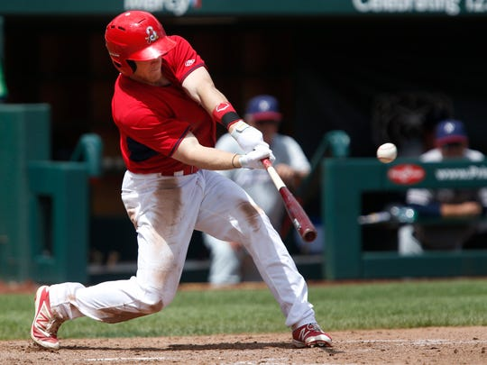 355be4e38 Harrison Bader connects for a 2 RBI double during the