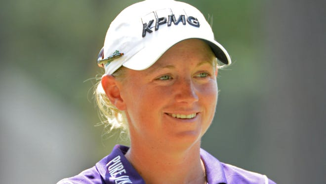Stacy Lewis during the first round of the U.S. Women's Open at the Pinehurst Resort and Country Club in June.