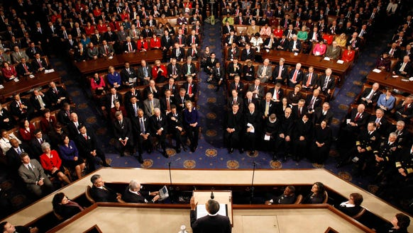 Lawmakers assembled for the 2011 State of the Union