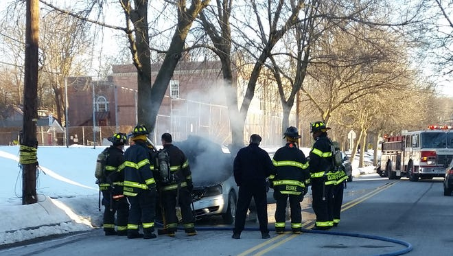 The Montclair Fire Department responded Monday morning to a report of a car fire on North Fullerton Avenue.