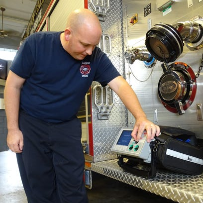 Mike Saurers, a firefighter and paramedic for  Galion,