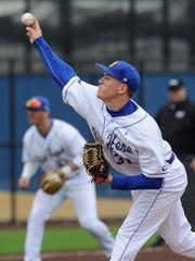 University of Delaware pitcher Adam Davis continued a successful return from an elbow injury Saturday in the first game against Hofstra.