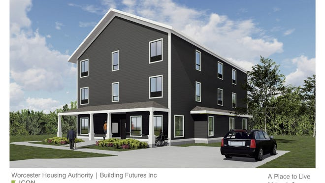 An artist's rendering of the proposed microhousing unit in Worcester.